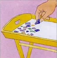 Artesanato com mosaico - passo 4