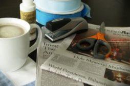 Artesanato com jornal: cesta passo a passo