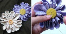 Como fazer flor de tecido – broche para roupas