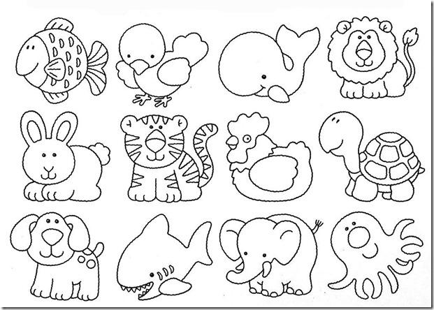 Desenhos Moldes Animais Artesanto Eva Feltro Pintura Revista