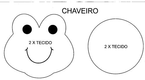 Molde Chaveiro Sapinho Revista Artesanato