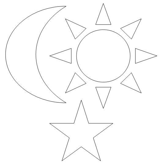 Molde Estrela Sol E Lua Revista Artesanato