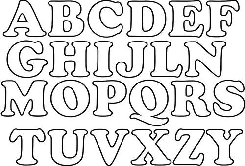 Moldes De Letras Para Imprimir Alfabeto Completo Revista Artesanato