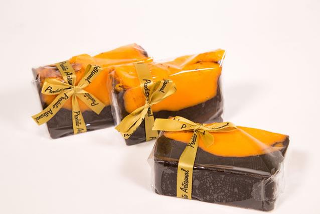 sabonete artesanal cenoura com chocolate