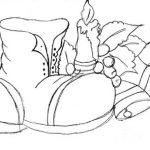 Bota de natal, desenhos natalinos e velas de natal