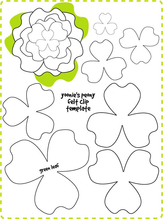 flor feltro molde