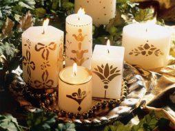 Como fazer decoração em velas