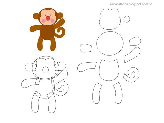 macaco-molde-feltro