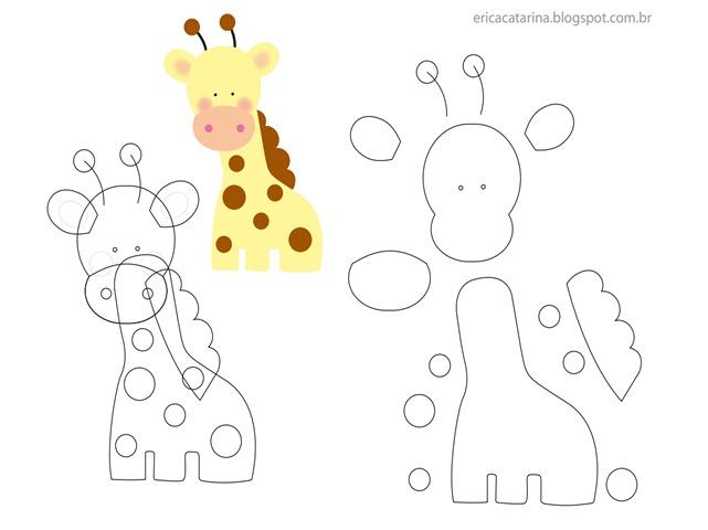 molde-girafa-em-feltro