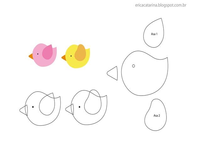 passarinho-molde-feltro
