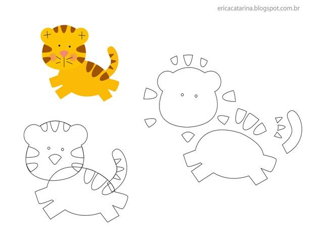 tigre-molde-feltro