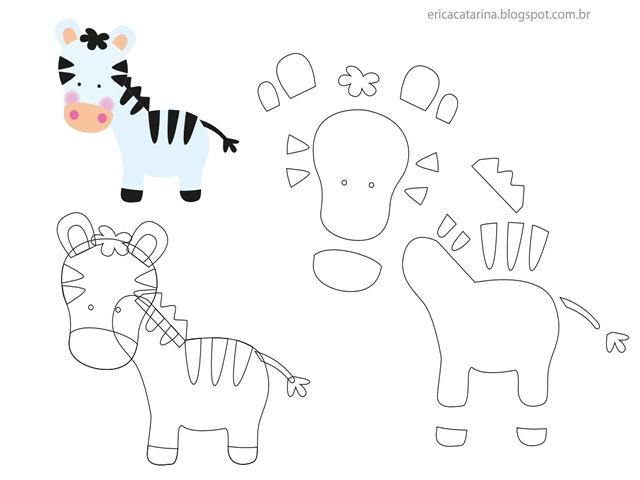 zebra-molde-feltro