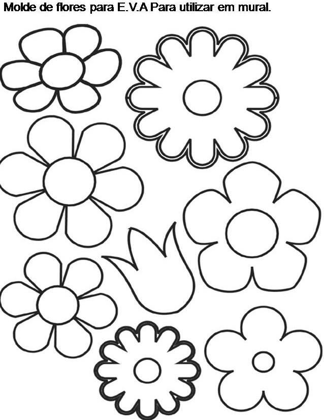 Molde Flores Para Eva Revista Artesanato