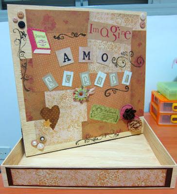 caixa decorada com papel finalizada