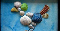 Aprenda a fazer um quadro com conchas