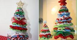 Ganhe dinheiro fazendo decoração de natal: árvore de fuxico
