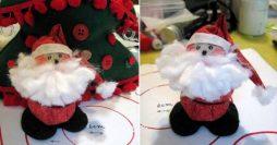 Como fazer Papai Noel de fuxico