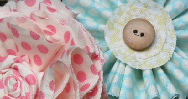 flor de tecido simples de fazer
