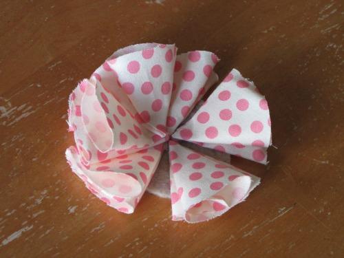 passo 4 flor de tecido