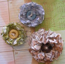 Florzinha reciclada feita com jornal