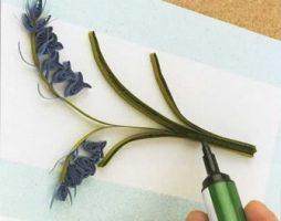 Como fazer flor de quilling