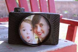 Porta retrato reciclado – lembrança para o dia dos pais