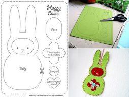 Como fazer um cartão personalizado de coelhinho da páscoa