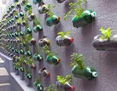 Decoração ecológica e inteligente com garrafas pet