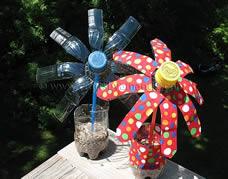Idéia genial para reciclar garrafas pet – vaso com flor de pet