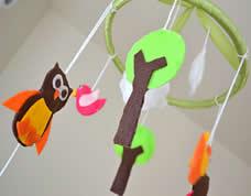 Móbile artesanal para decoração do quarto do bebê