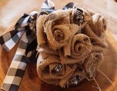 Bouquet para noivas rústico feito com juta