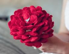 Bouquet de casamento personalizado em feltro