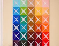 Decoração criativa – quadro colorido feito com papel