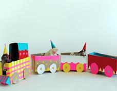 Ideia para o dia das crianças: trenzinho de papel