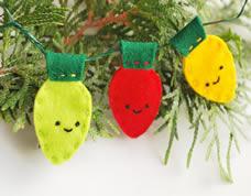 Enfeites para árvore de natal em feltro