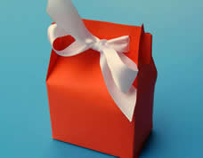 Caixinha de papel charmosa para embalar presentes