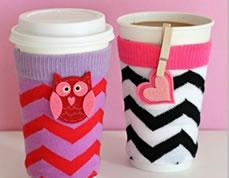 Enfeites criativos para copo feitos com meias