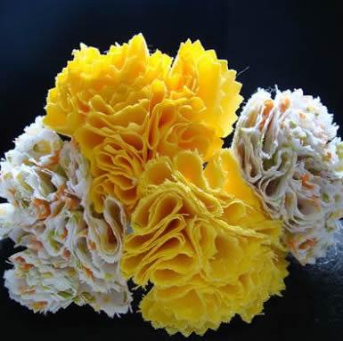 flor de tecido - passo a passo