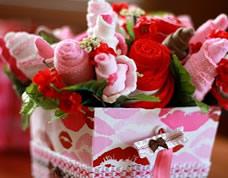 Arranjo de flores feito com meias – super legal