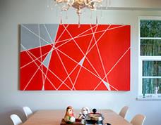 Como pintar um quadro em casa