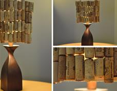Abajur personalizado com rolhas – artesanato criativo
