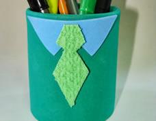 Artesanato para o dia dos pais – lata decorada com EVA