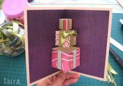 Cartão de aniversário em 3D – lindo e diferente