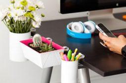 Porta objetos para organizar a mesa do escritório