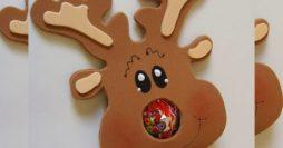 Lembrancinha de Natal – Rena de EVA com pirulito
