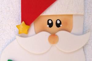 Porta talher de Papai Noel feito com EVA