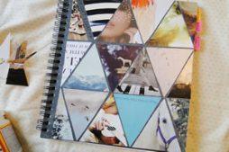 Capa de caderno decorada de maneira moderna