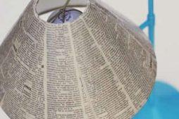 Abajur descolado com tiras de jornal – aprenda agora