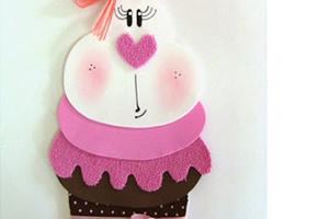 Coelhinha de páscoa em formato de cupcake