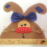 Coelhinho guirlanda - miniatura